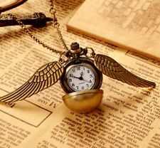 2017 Harry Potter Snitch Pocket Watch Pendant Necklace Steampunk Quidditch Wings