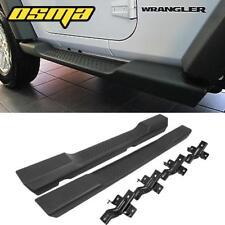 For 07-18 Jeep Wrangler JK 2DR Sahara Rubicon Running Board Side Step Nerf Bars