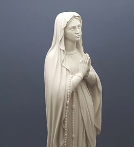 Our Lady Blessed Virgin Mary Greek Cast Marble Statue Sculpture 15.75 in