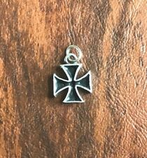 BIKERS MOTORCYCLE 1 MALTESE IRON CROSS CHARM / PENDANT...All New.