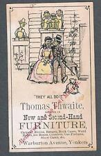 Original 1900's Thomas Thwaite New York New & Second-Hand Furniture Trade Card