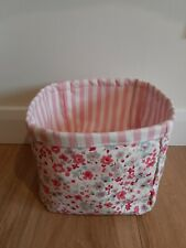 Handmade Fabric Storage Basket Pink