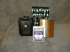 GORHAM  That's Entertainment   RARE  Flask in leather pouch  with PLAYING CARDS