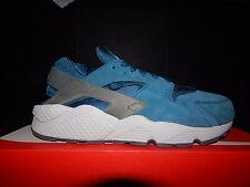 Nike Air Huarache in pelle scamosciata blu forza Cool Grigio UK8/US9 Scatola Nuovo Di Zecca Con