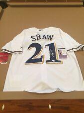 Travis Shaw Signed Custom Milwaukee Brewers Jersey w/ JSA COA STAR!