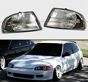 FOR 92-95 HONDA CIVIC COUPE/HATCHBACK EG9 VISION CLEAR CORNER SIGNAL LIGHTS LAMP