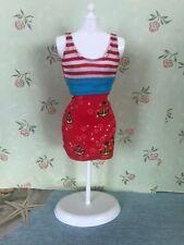Barbie Doll Clothes Fashions Anchor Print Nautical Dress