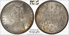 1890-B India 1 Rupee PCGS MS61 Lot#G955 Silver! Nice UNC!