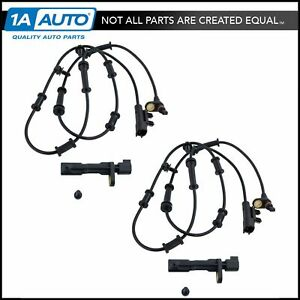 Front & Rear ABS Wheel Speed Sensor LH RH Kit Set of 4 for Dodge Jeep SUV New