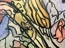 Pierre Ledda (1914-1994) Collage technique mixte signé circa 1970 ..France