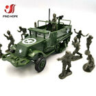 1:72 M3 Half-Track Armored Vehicle Assembly Model Armored Carrier Car+10 Soldier