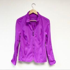 Zella Full Zip Athletic Jacket Fuchsia Purple Large