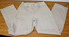 St Johns Bay Womens Size 8 Beige Pants Bootcut 100% Cotton Very Nice!!