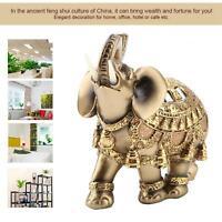 Elephant Statue Ornament Figure Lucky Feng Shui Wealth Figurine Home Decor Gift