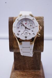 MICHELE Tahitian Jelly Bean Stainless white Chrono  #MWW12D000015 New Battery