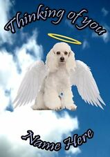 Poodle  Dog Personalised Card Sympathy Thinking Of You A5 Codehd