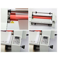 17'' Hot Cold Roll Laminator Single&Dual Sided Laminating Machine Industry Tool
