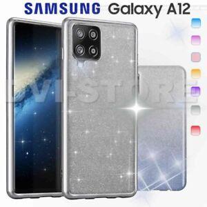 CUSTODIA per SAMSUNG GALAXY A12 Cover SHINE Glitter Brillantini Strass