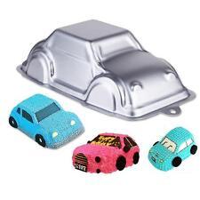 3D Car Shape Tins Pan Aluminum Baking Bakeware Child Birthday Cake Mould Q