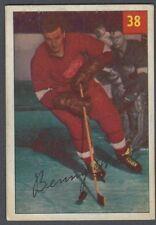 1954-55 Parkhurst Detroit Red Wings Hockey Card #38 Benny Woit