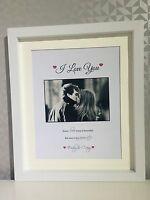 I Love You Personalised Boyfriend Husband Wife Girlfriend Print gift ValentInes