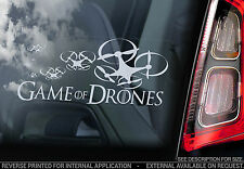 GAME OF DRONES - Car Window Sticker - Drone Sign Quadcopter Vinyl Decal RC - V5