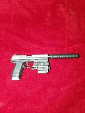 Plastic Toy Machine Gun Pistol w Silencer Accessory for 12