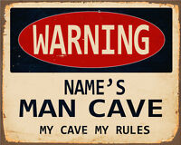 Personalised My Man Cave - VINTAGE ADVERTISING ENAMEL METAL TIN SIGN WALL PLAQUE