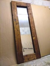 Beautiful Large Full Length Rustic Reclaimed Wood Floor Mirror - 6ft x 2ft