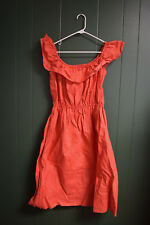 VINTAGE 1990s RETRO Clothes Red White Dress Size Small