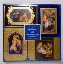 Hallmark Religious Christmas Cards Box Of 40 Gilded Edges 4 Designs