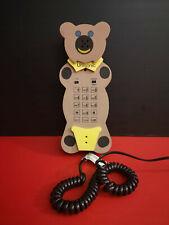 Original Telefono fijo de forma de oso osito hecho en goma eva. funcionando