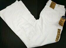 Silver Suki Women Mid Rise Flare Denim Jeans Size 18 W x 34 L White Long New NWD