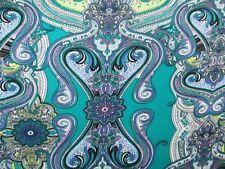 3 yards stretch spandex lycra fabric beautiful paisley print