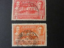 152]   BARBADOS  STAMPS  --  1939 - SG 258 /259 - GENERAL ASSEMBLY