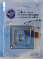 NEW Wilton Fondant 3 Square Cutters Cut-Out Jewelry Design Cookie Craft Modeling