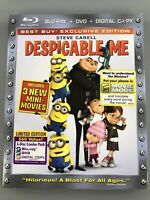 Despicable Me Limited Edition  DVD+Bluray w/ Slipcover