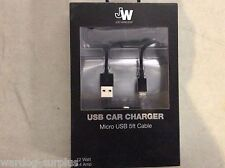 Just Wireless JW Car Vehicle Truck Automotive 5' ft Charger Sync Micro USB
