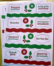 NEW Christmas Make A Card Stickers 40 Acid Free Stickers Holiday Greetings