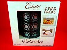 Nib Estate Home Fragrance System Warmer W/ 2 Wax Packs