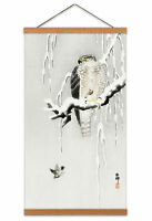 Ohara Koson Hawk With Captured Ring Sparrow Canvas Wall Art Print Poster