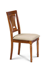 SET OF 4 DINING SIDE CHAIR with SOFT-PADDED SEAT IN SADDLE BROWN