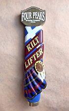 Four Peaks Kilt Lifter Scottish Craft Beer Keg Tap Handle Bar Tilted Plaid Bar