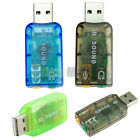 New Audio Adapter Card 5.1 USB To 3.5mm Mic Headphone Jack Stereo Headset Sound