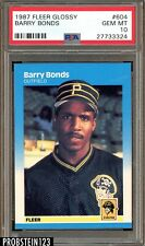 1987 Fleer Glossy #604 Barry Bonds RC Rookie PSA 10 GEM MINT