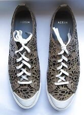 AERIN Sneakers - Newport Laser Cut in Taupe, Size 9M