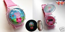 Peppa Pig Children's Liquid Filled Watch With Flashing Lights
