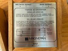 Magnepan Tympani IV external crossover pair