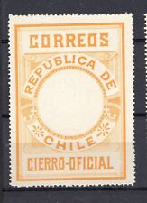 CHILE 1900 Seal MLH no official printing perforated orange-brown