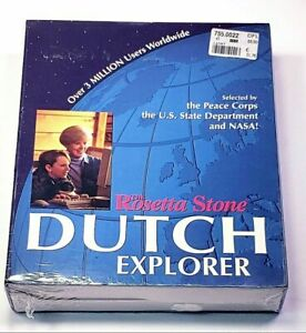 The Rosetta Stone Dutch Explorer for Windows or Macintosh ~ Factory Sealed